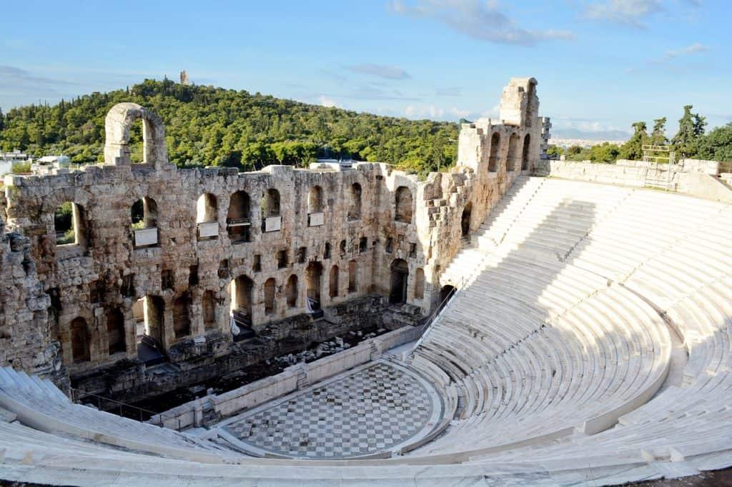 Parthenon inside Greece