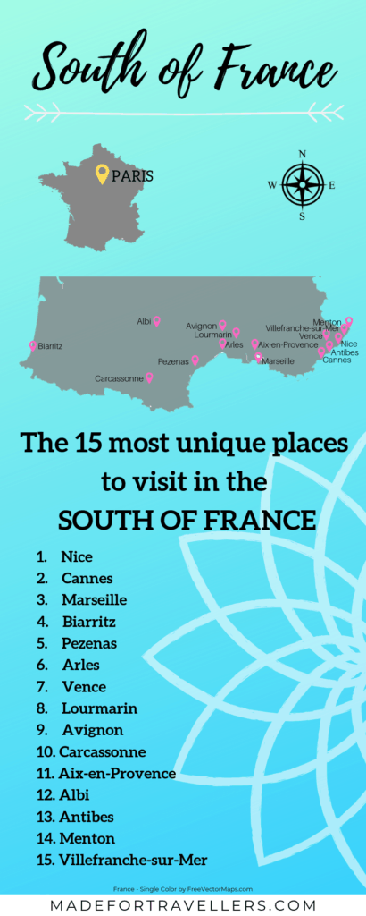 South of France infographic