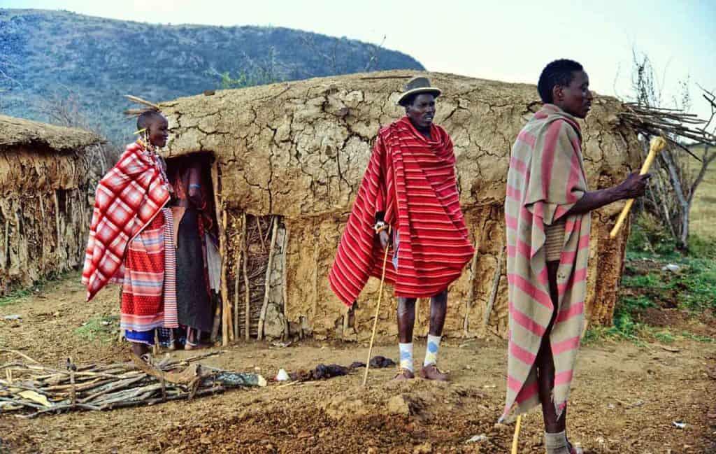 Maasai homes