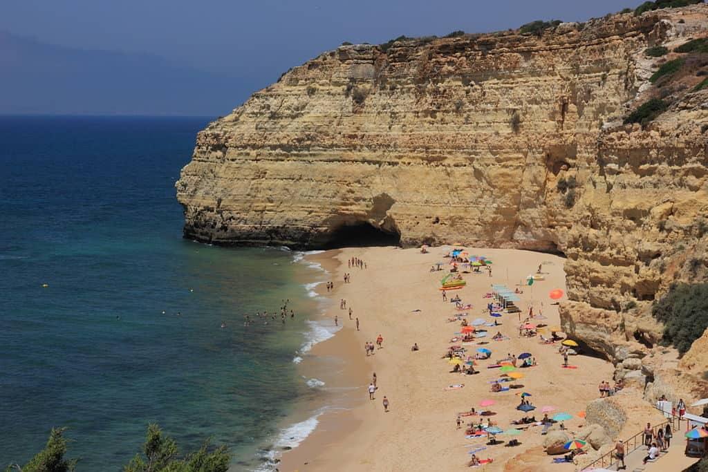 Vale Centeanes Beach Algarve Hanging villages