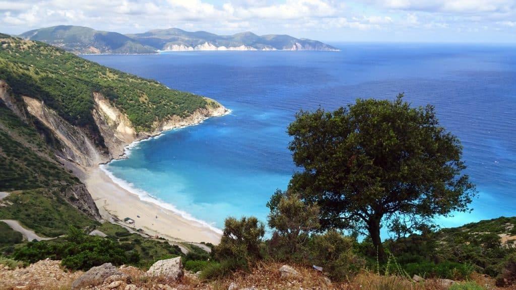 Greece blue sea Kefalonia